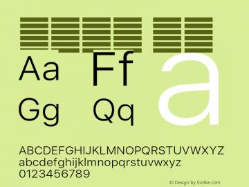 系统字体 细体 11.0d51e0--BETA Font Sample