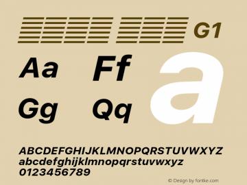 系统字体 粗斜体 G1 11.0d51e0--BETA Font Sample