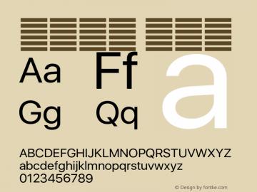 系统字体 常规体 11.0d37e0--BETA Font Sample