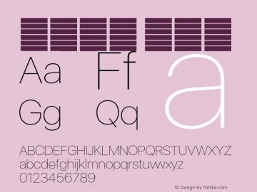 系统字体 超细体 11.0d37e0--BETA Font Sample