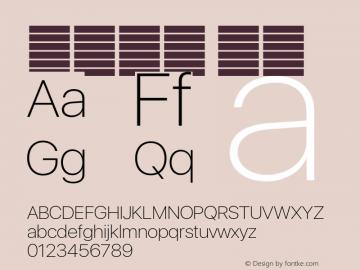 系统字体 瘦体 11.0d37e0--BETA Font Sample
