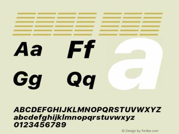 系统字体 粗斜体 11.0d51e0--BETA Font Sample