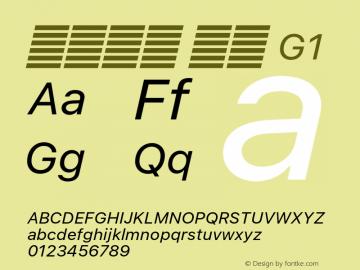 系统字体 斜体 G1 11.0d51e0--BETA Font Sample
