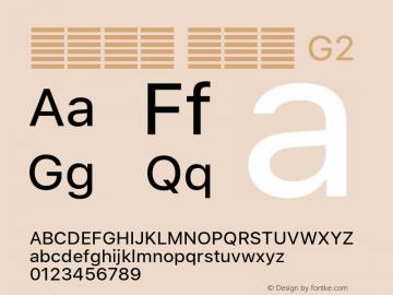 系统字体 常规体 G2 11.0d51e0--BETA Font Sample