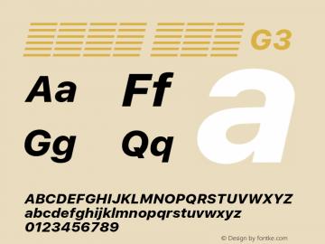 系统字体 粗斜体 G3 11.0d51e0--BETA Font Sample