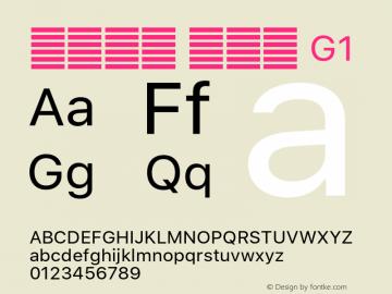 系统字体 常规体 G1 11.0d51e0--BETA Font Sample