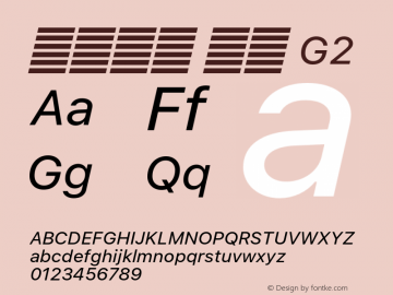 系统字体 斜体 G2 11.0d51e0--BETA Font Sample