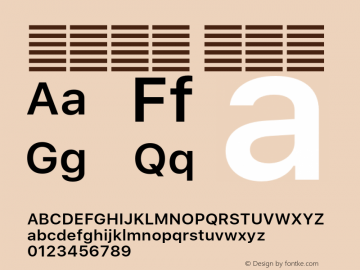 系统字体 半粗体 11.0d51e0--BETA Font Sample