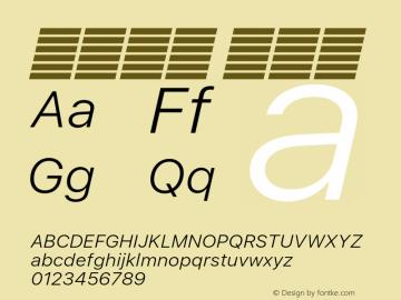系统字体 细斜体 11.0d51e0--BETA Font Sample
