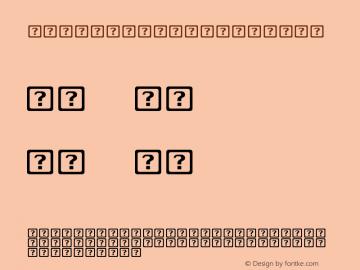 .LastResort Regular 6.1d5e1 (Timberline version 1.0) Font Sample