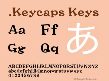 .Keycaps Keys 10.0d12e1 Font Sample