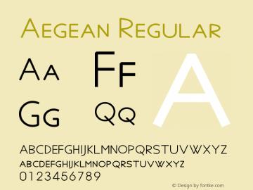 Aegean Regular Version 8.01 Font Sample