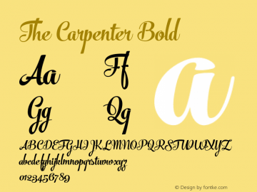 The Carpenter Bold Version 1.000;com.myfonts.fenotype.the-carpenter.bold.wfkit2.46e3 Font Sample