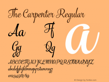 The Carpenter Regular Version 1.000;com.myfonts.fenotype.the-carpenter.regular.wfkit2.46dX Font Sample