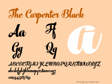 The Carpenter Black Version 1.000;com.myfonts.fenotype.the-carpenter.black.wfkit2.46e1 Font Sample