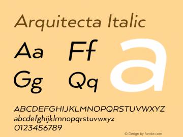 Arquitecta Italic 1.000 Font Sample