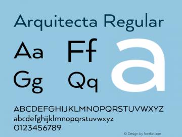 Arquitecta Regular 1.000 Font Sample