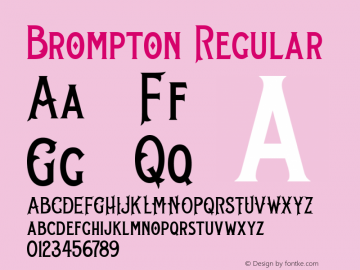 Brompton Regular Version 001.000图片样张