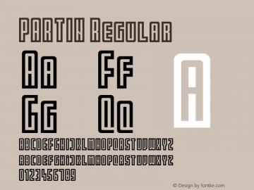 PARTIN Regular Version 1.0图片样张