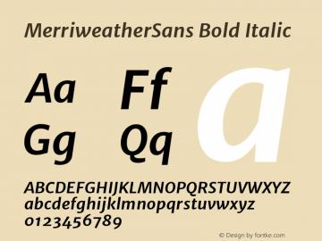 MerriweatherSans Bold Italic Version 1.000; ttfautohint (v0.97) -l 13 -r 13 -G 0 -x 14 -f dflt -w