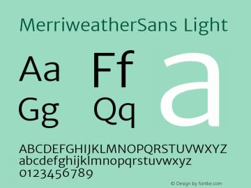 MerriweatherSans Light Version 1.003; ttfautohint (v0.97) -l 13 -r 13 -G 0 -x 14 -f dflt -w