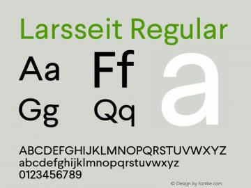 Larsseit Regular Version 1.000;PS 001.001;hotconv 1.0.56 Font Sample