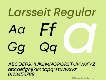 Larsseit Regular 1.000 Font Sample
