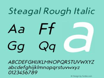Steagal Rough Font Family|Steagal Rough-Uncategorized Typeface
