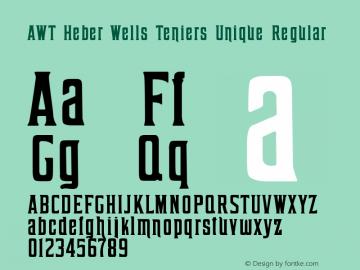 AWT Heber Wells Teniers Unique Regular Version 1.00 February 8, 2014, initial release图片样张