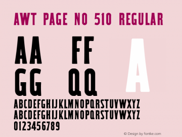 AWT Page No 510 Regular Version 1.00 February 14, 2014, initial release图片样张