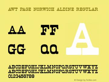 AWT Page Norwich Aldine Regular Version 1.10 October 31, 2013图片样张