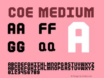 Coe Medium Version 001.000图片样张