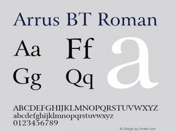 Arrus BT Roman mfgpctt-v4.4 Jan 4 1999 Font Sample