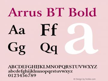 Arrus BT Bold mfgpctt-v1.57 Friday, February 19, 1993 3:14:49 pm (EST) Font Sample