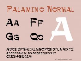 Palamino Normal Altsys Fontographer 4.1 1/9/95 Font Sample