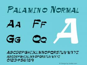 Palamino Normal Altsys Fontographer 4.1 11/3/95 Font Sample