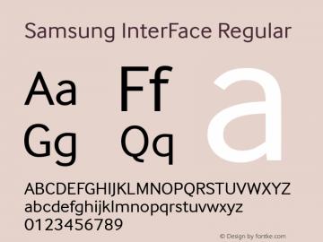 Samsung InterFace Font,SamsungInterFace-Regular Font Samsung