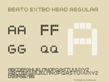 Beato ExtBd Head Regular Version 1.000;PS 001.001;hotconv 1.0.56图片样张