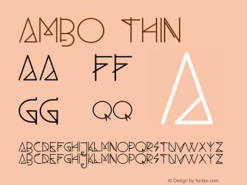 Ambo Thin Version 1.000 Font Sample
