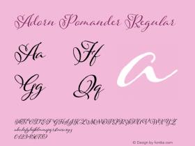 Adorn Pomander Regular Version 1.000 Font Sample