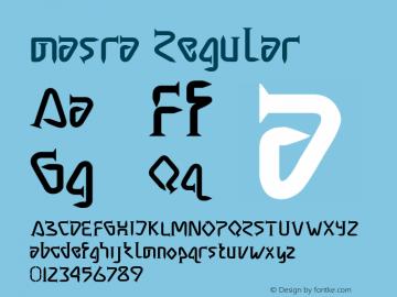 masra Regular Version 1.00 June 17, 2014, initial release图片样张