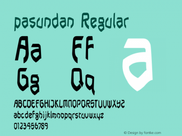 pasundan Regular Version 1.00 June 17, 2014, initial release图片样张