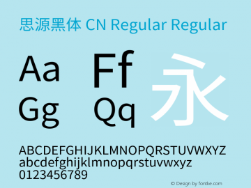 思源黑体 CN Regular Regular Version 1.002;PS 1.002;hotconv 1.0.81;makeotf.lib2.5.63406图片样张