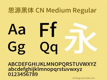 思源黑体 CN Medium Regular Version 1.001;PS 1.001;hotconv 1.0.78;makeotf.lib2.5.61930图片样张