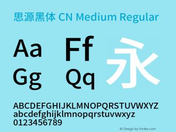 思源黑体 CN Medium Regular Version 1.002;PS 1.002;hotconv 1.0.81;makeotf.lib2.5.63406图片样张