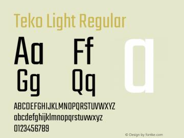 Teko Light Font,Teko Font,Teko-Light Font|Teko Light Version