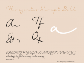 Horizontes Script Bold Version 1.000   wf-rip* Font Sample