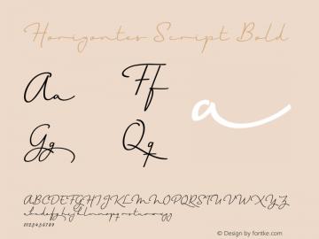 Horizontes Script Bold Version 1.000 | wf-rip* Font Sample