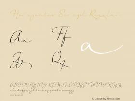 Horizontes Script Regular Version 1.000   wf-rip* Font Sample