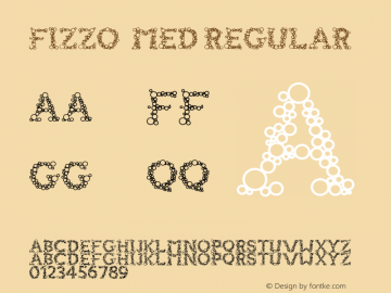FIZZO  Med Regular Version 1.000;PS 001.001;hotconv 1.0.56图片样张